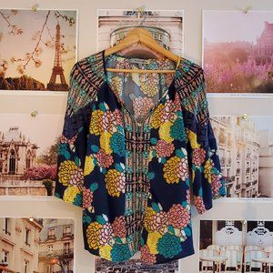 Figueroa & Flower Boho Raglan Sleeve Top